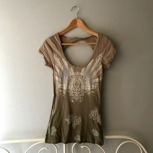 Guess Bohemian Feather Print Tee